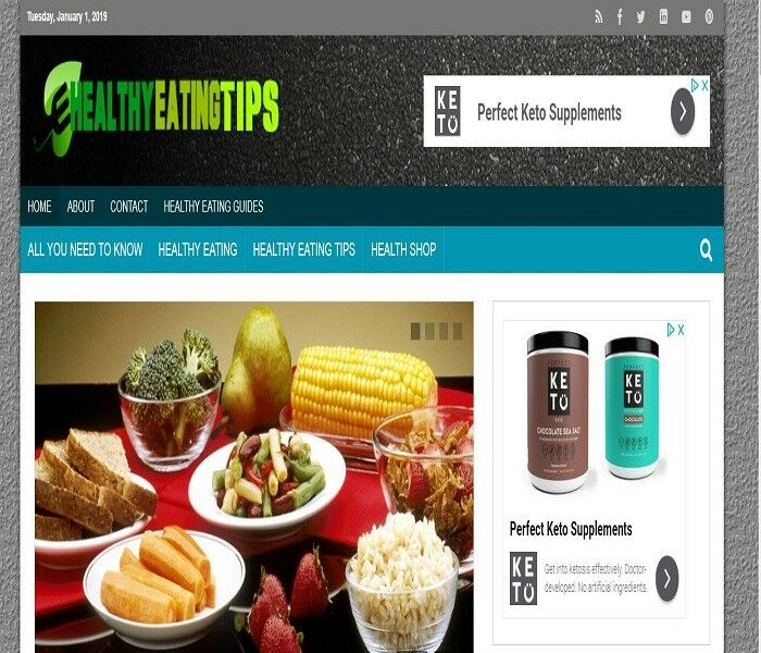 Healthy Eating Tips /Store- wordpress website ecommerce ready