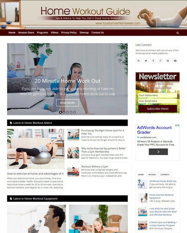 Home Workout Website