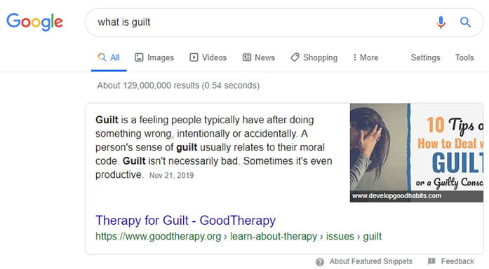 SERP: what is guilt