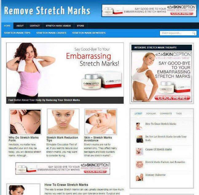 REMOVING STRETCH MARKS BLOG /WEBSITE WITH MULTI AFFILIATES AND NEW FREE DOMAIN
