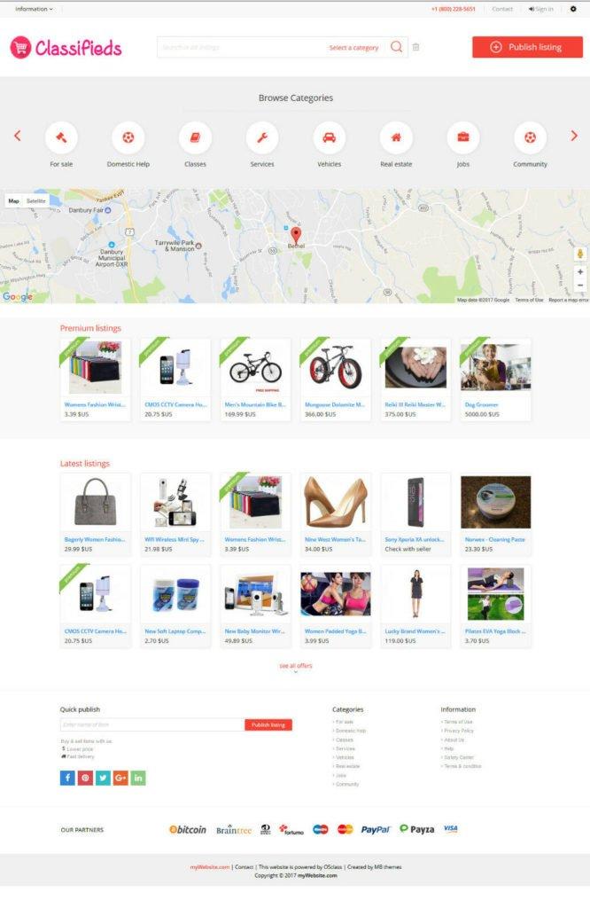 Responsive Classifieds Website - Free Install + Hosting
