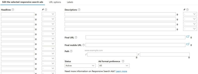 Responsive search ads available globally in all Microsoft Advertising interfaces