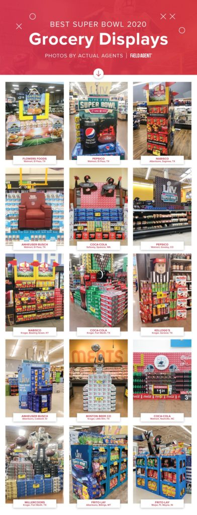 Super Bowl 2020 Best Grocery Store Displays