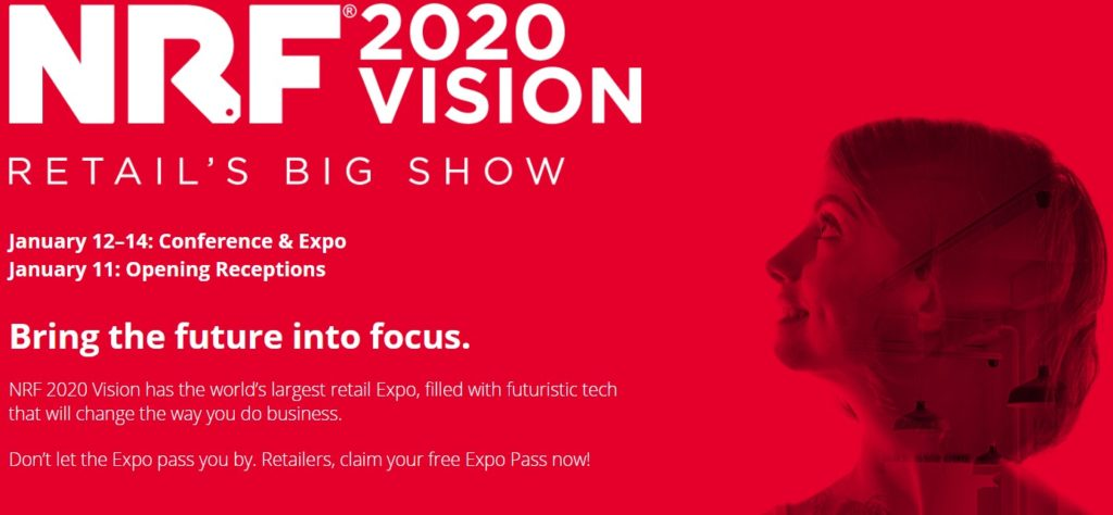 NRF Vision Retail Big Show banner with dates and summary