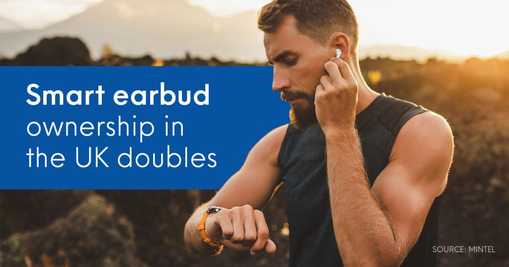 UK smart earbud ownership doubles in just 12 months