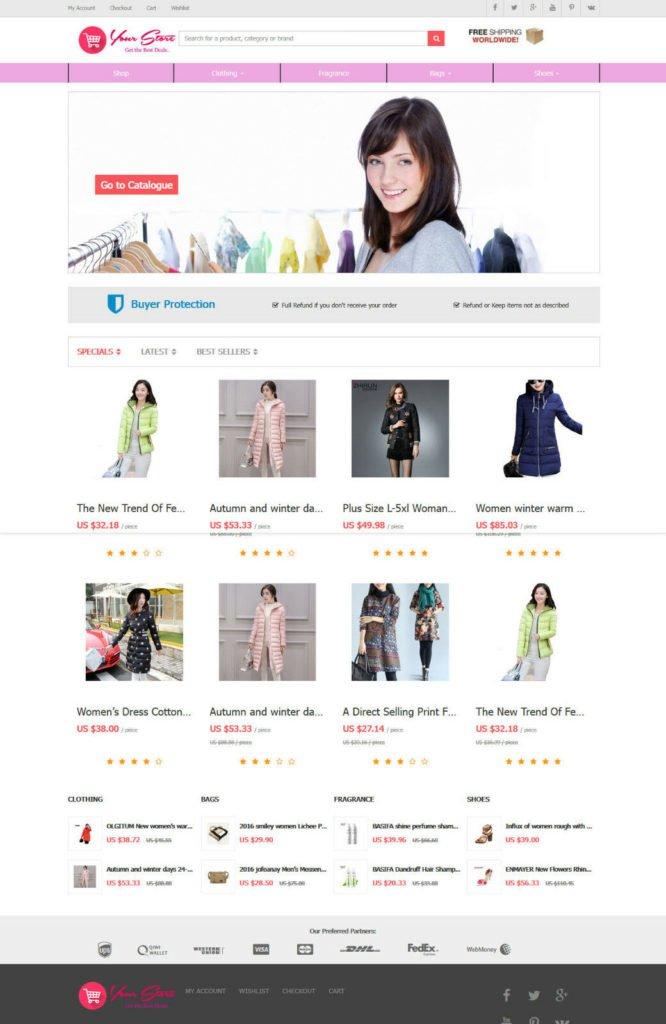 Women Clothing Store - AliExpress Affiliate Website + Free Hosting