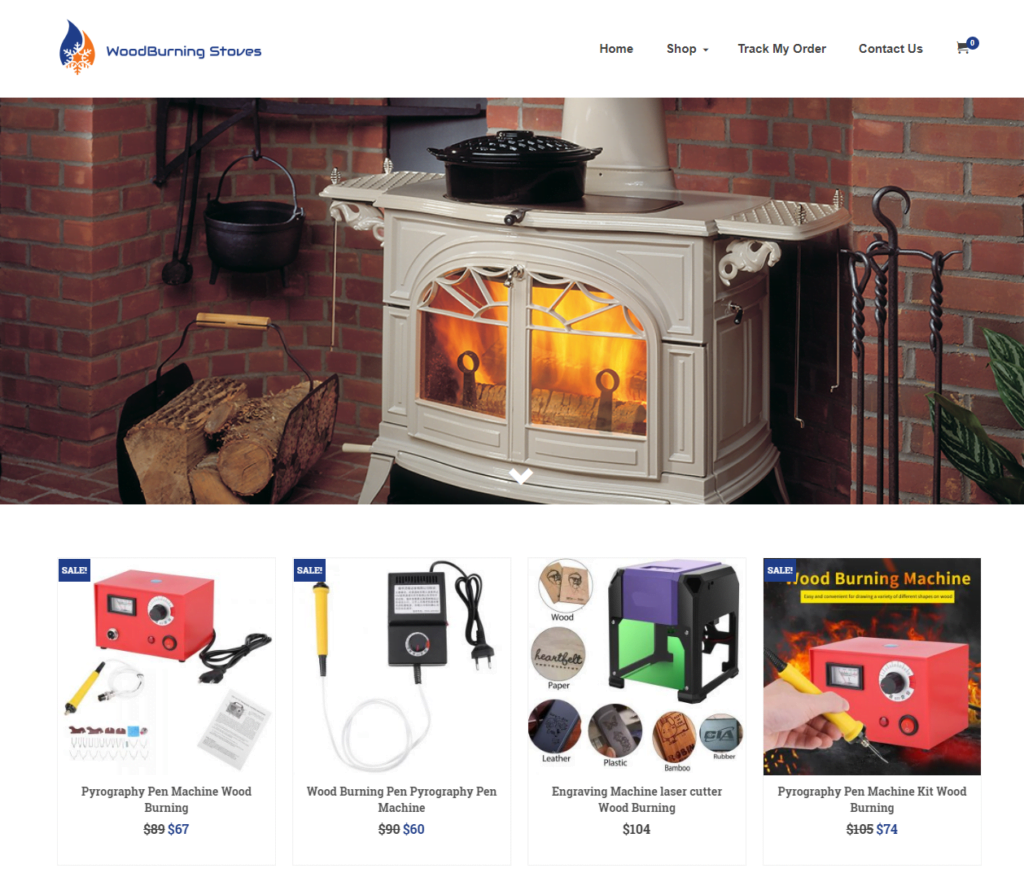 Wood Burning Stoves Turnkey Website BUSINESS For Sale - Profitable DropShipping