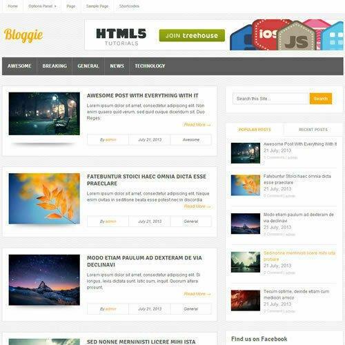 WordPress 'BLOGGIE' Website News / Magazine Theme Business (FREE HOSTING)