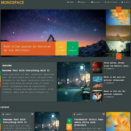 WordPress 'MONOSPACE' Website News / Magazine Theme Business (FREE HOSTING)