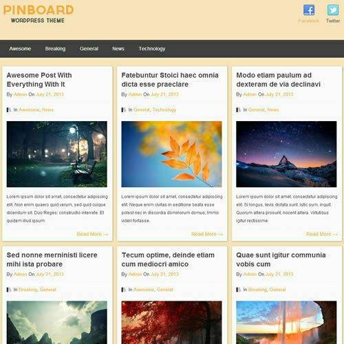 WordPress 'PINBOARD' Website News / Magazine Theme Business (FREE HOSTING)