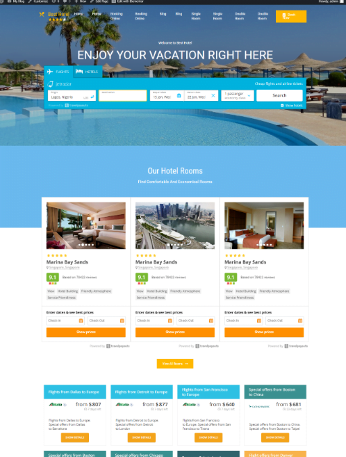 flight/hotel booking website, make Money Online, passive income