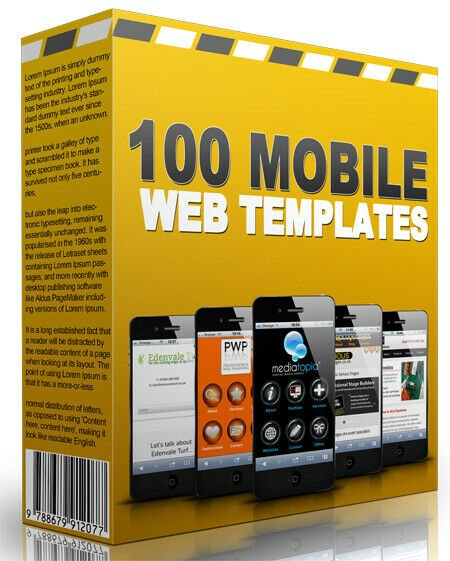 100 Mobile & Tablet Friendly Turnkey Websites Templates - Resell Rights