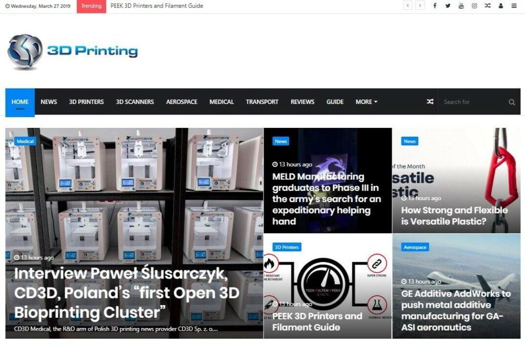 Automated 3D Printing News Wordpress Website - Turnkey Autopilot Site