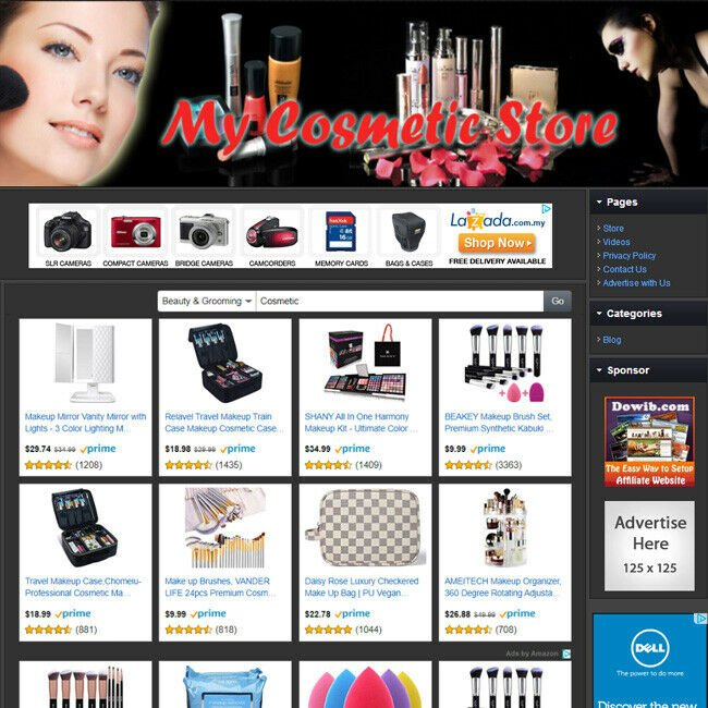 COSMETIC STORE Professionally Design Online Business Affiliate Website For Sale!