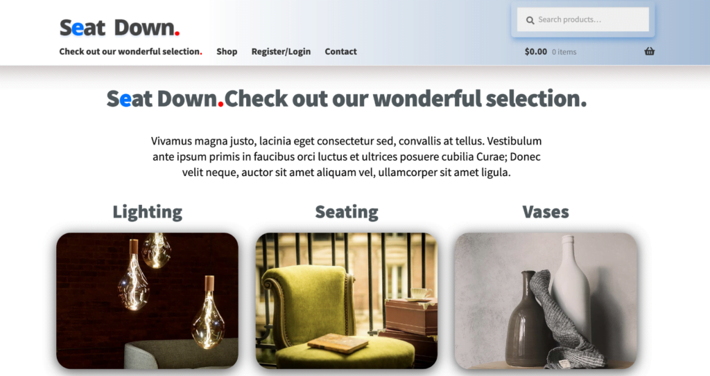 Complete WordPress Turnkey On-Line Store Website For Your Products