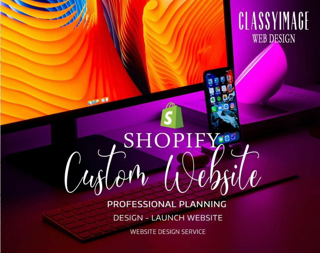 Custom Shopify Website Design - Website Setup with 50 Products + Logo