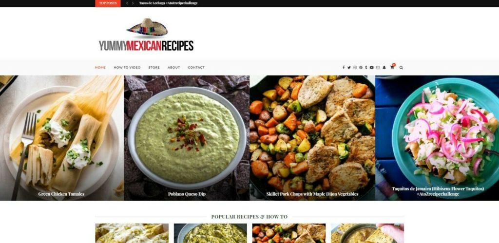 Established website for sale yummy mexican food update Blog