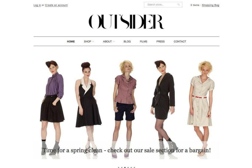 Fashion Website, Fashion Mobile Responsive Website, Unique Web design