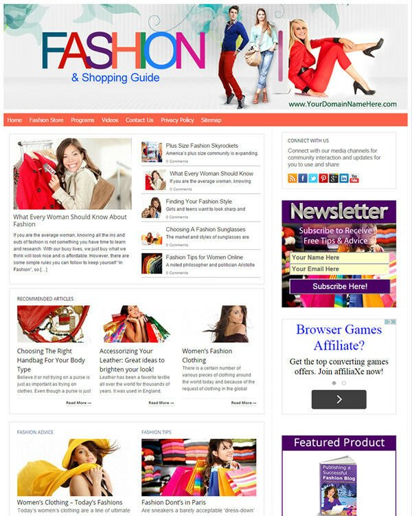 Fashion and Shopping Website