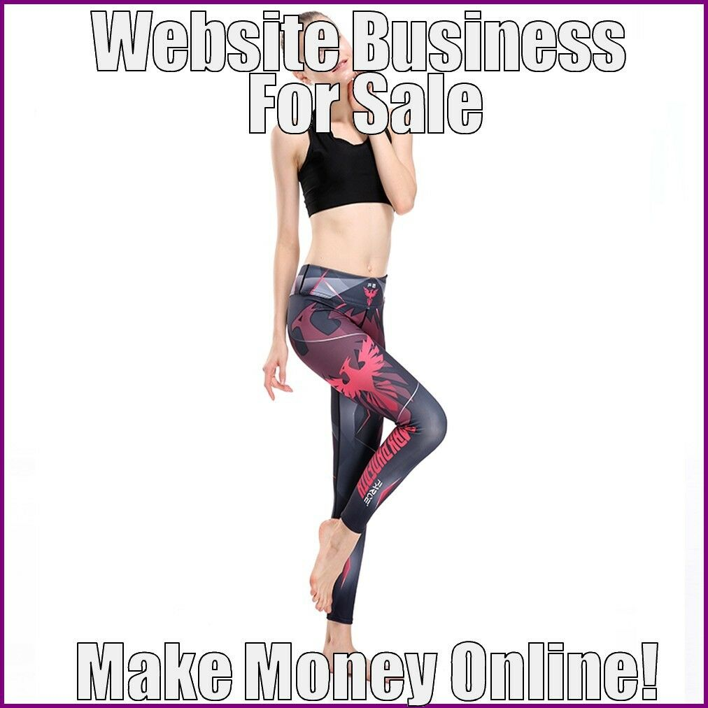 Fully Stocked FITNESS CLOTHES Website Business FREE Domain FREE Hosting Traffic