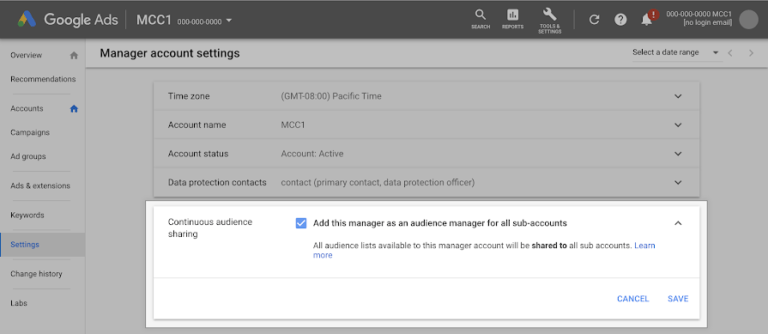 Google Ads Makes it Easy to Share Audience Lists Across Accounts