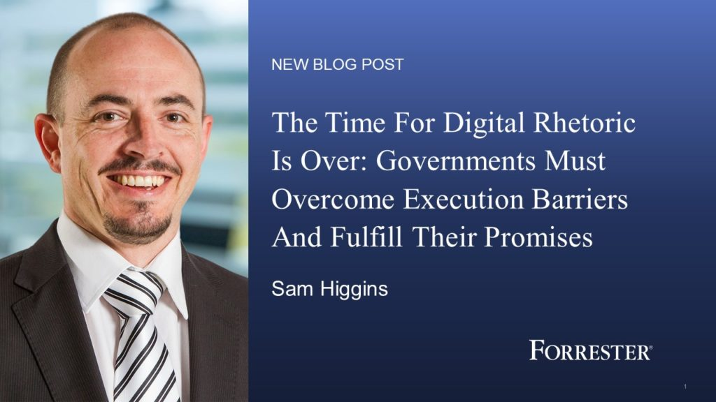 Governments Must Overcome Execution Barriers And Fulfill Their Promises