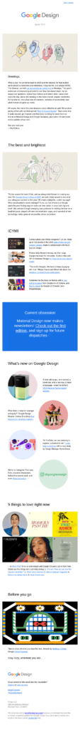 Google Design's Newsletter Example