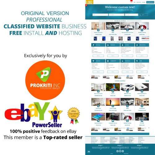 Original ⚡ Professional Classified website business ⚡ FREE install