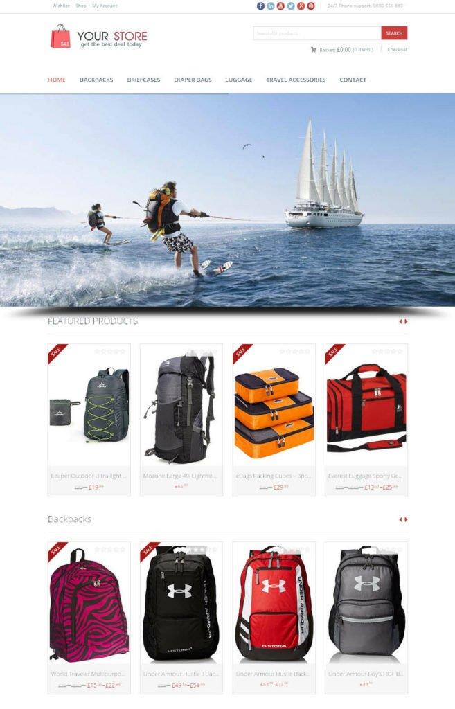 Travel Accessories Store - Next Generation Amazon Affiliate Website + eCommerce