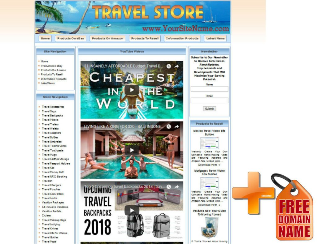 Make Money with  Amazon Google Adsense Clickbank Affiliate Store Website!