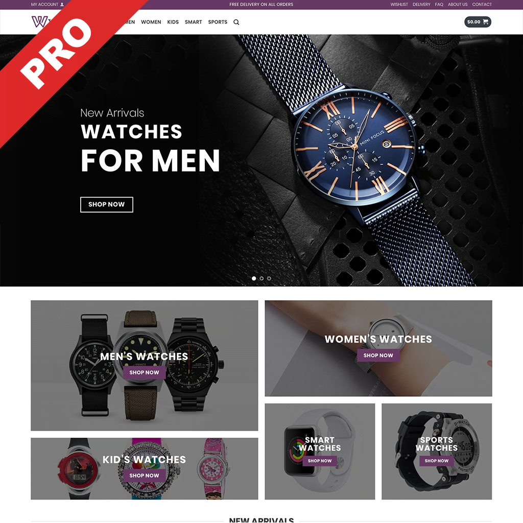 Watches Dropshipping Store - Premium Business Website