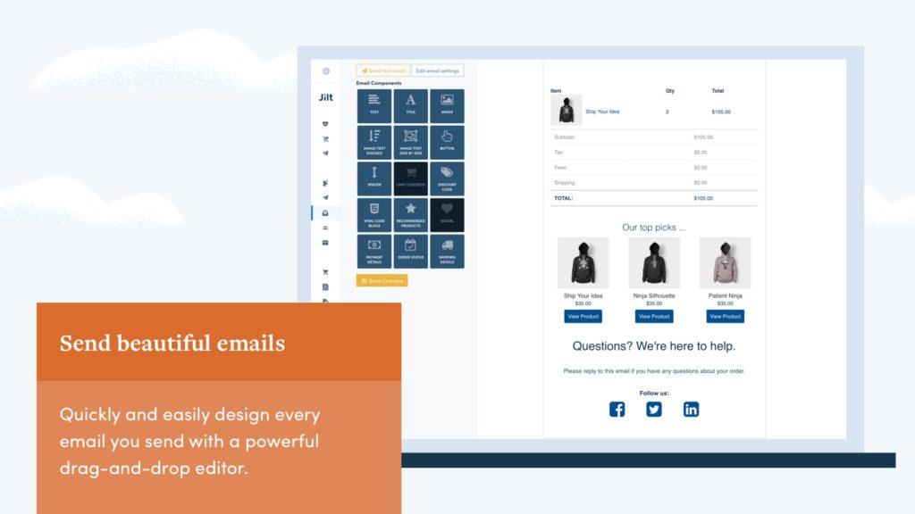 Jilt Email Marketing Shopify app