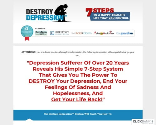 The Destroy Depression™ System - Cure Depression Naturally