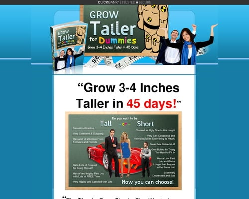 Grow Taller For Dummies™ - How To Grow Taller & How to Increase Height in the next 45 days