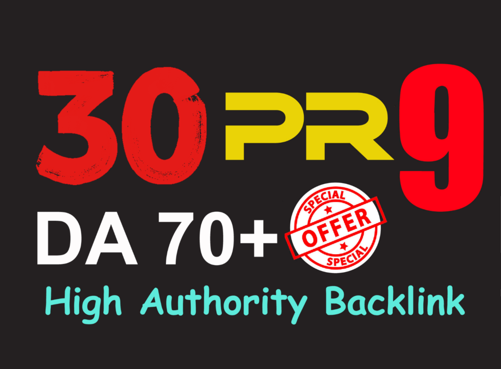 30 Backlinks 70+ DA Manually sumission website SEO Increase Google Ranking  site