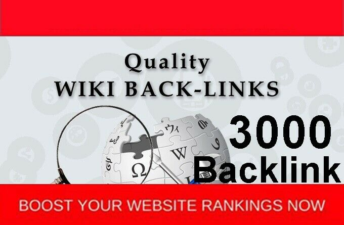3000 Wiki backlink for your website seo google ranking keyword seo rank page