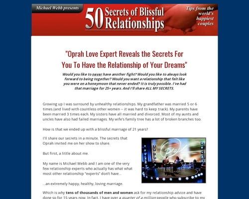 50 Secrets Of Blissful Relationships.