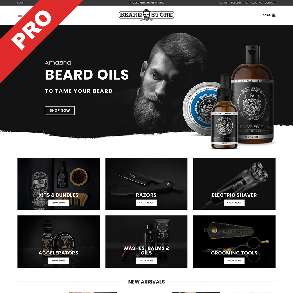 BEARD STORE | Professional Dropshipping Website | Ready-Made Business For Sale