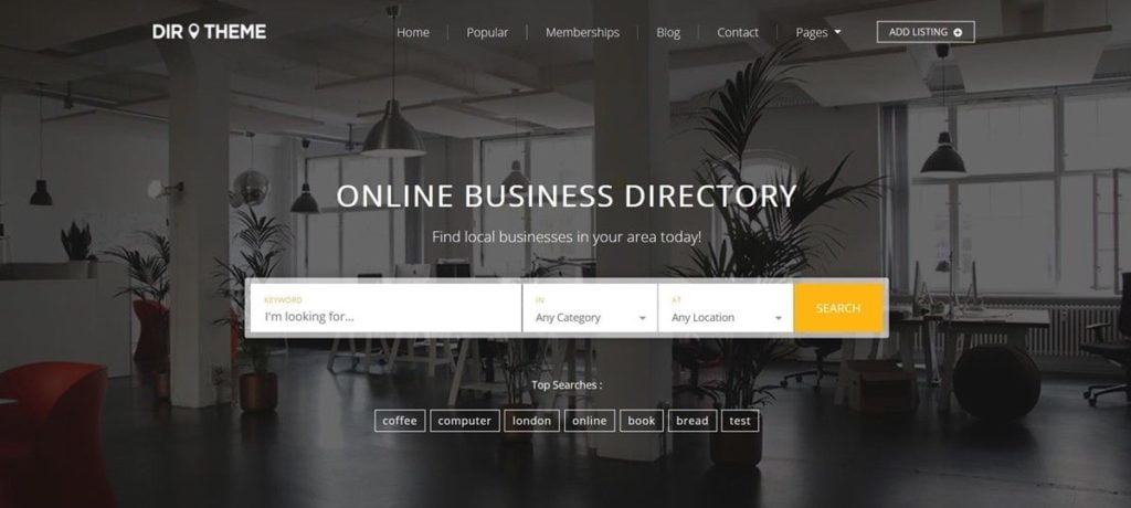 FULLY RESPONSIVE DIRECTORY WEBSITE