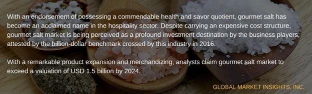 Gourmet salt industry