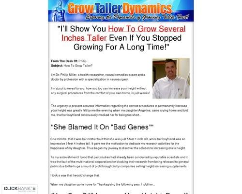 Grow Taller Dynamics - Exposing the Dynamics of Growing Taller Fast!