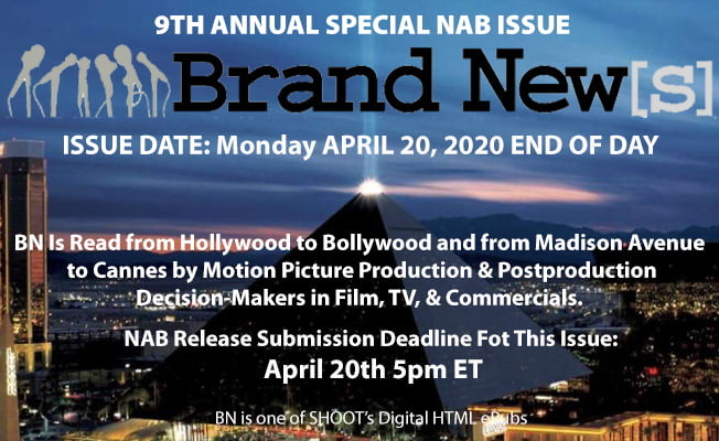 Guarantee Your NAB News Release Directly Reaches & Engages Film, TV, Commercial and Online Content Production and Postproduction Decision-Makers