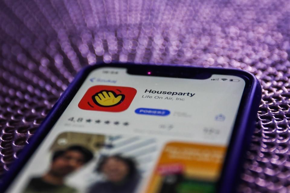 Houseparty app icon on smartphone