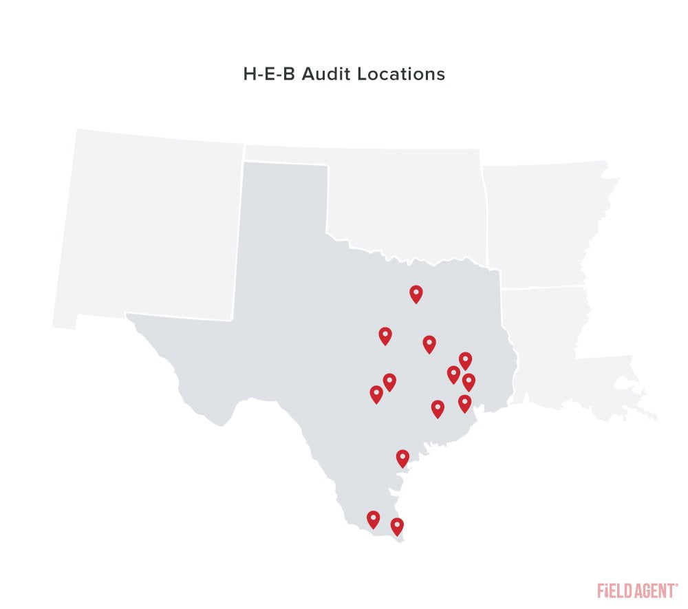 Coronavirus H-E-B Audit Locations Map