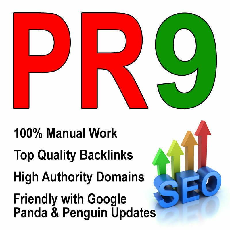 Manually create 10 backlinks pr9 for your website seo site ranking google seo