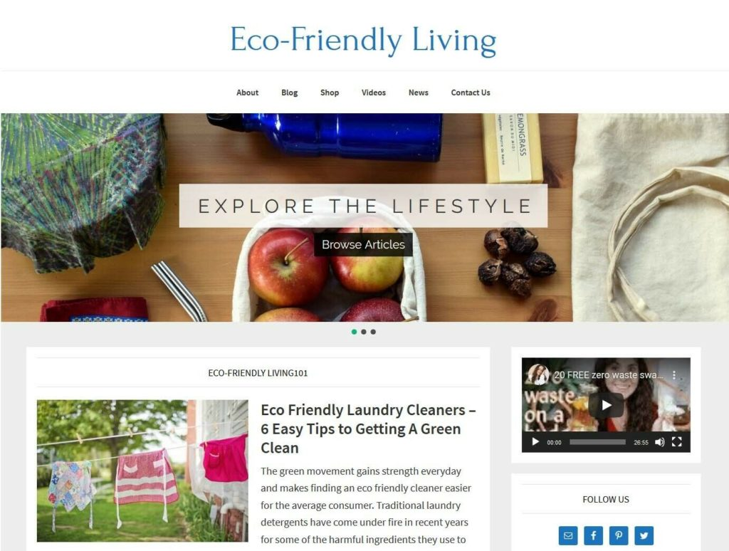 [NEW DESIGN] * Eco-Friendly Living Website * affiliate product blog AUTO POSTS