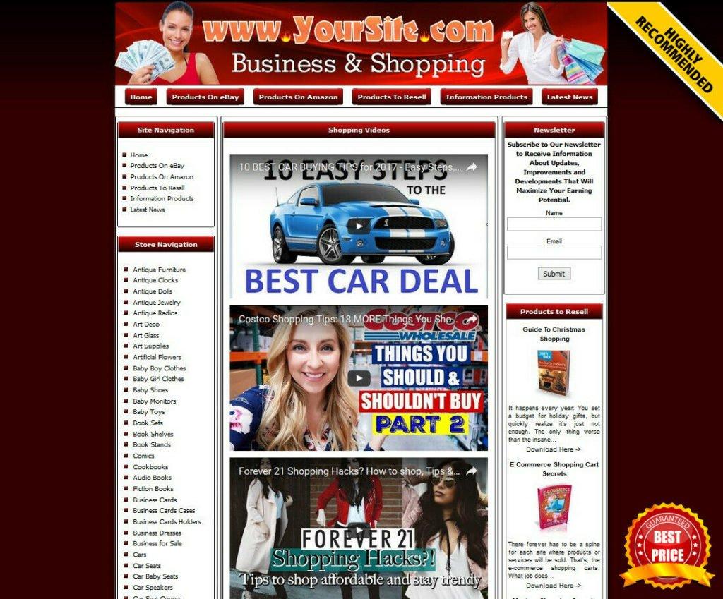 Online Store Business Website for Sale. eBay, Amazon, Google Adsense, Dropship.