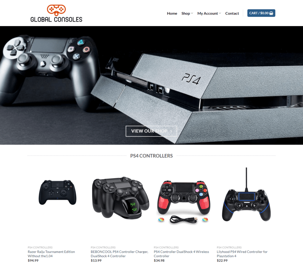 PS4 Console Website For Sale - Earn £364 A SALE. Free Domain|Hosting|Traffic
