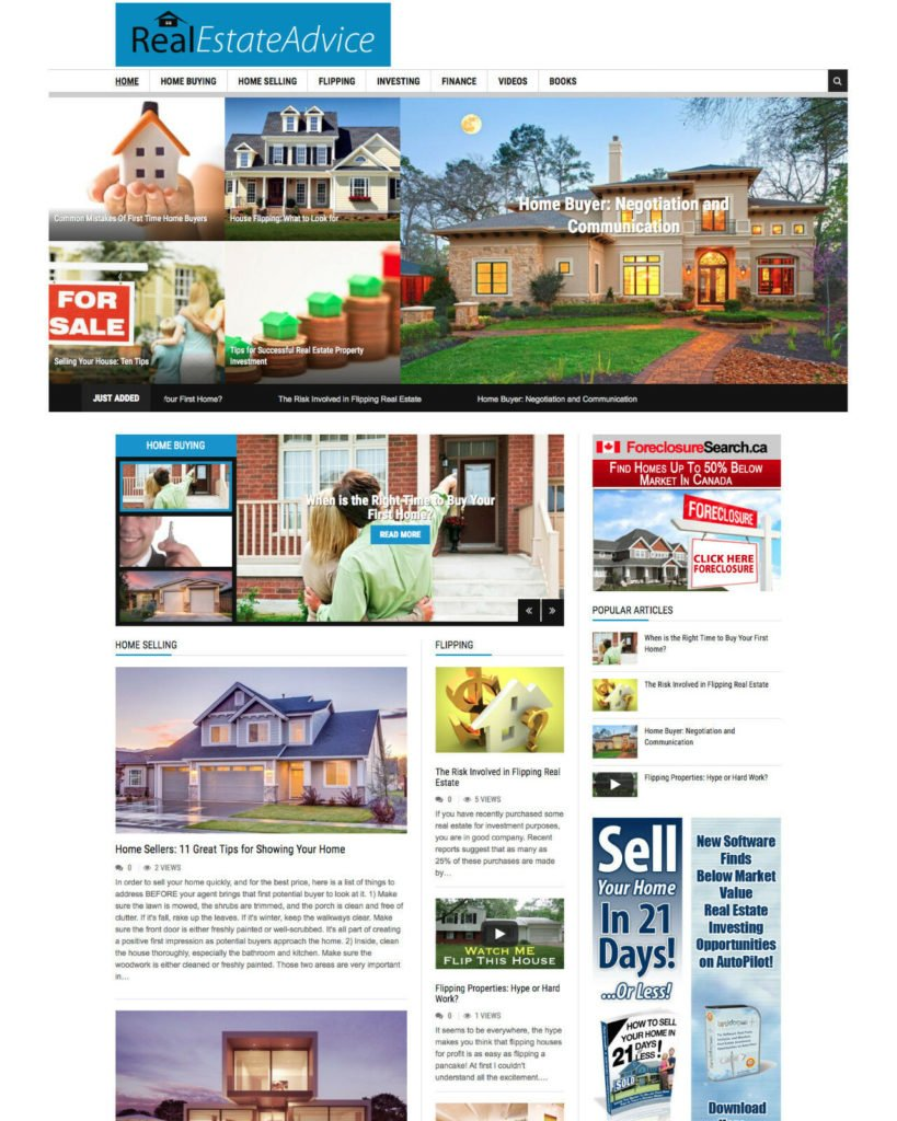 REAL ESTATE Property Investment House affiliate website for sale Responsive
