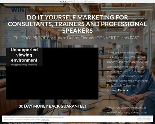 Register for DIY Marketing for Consultants, Trainers and Professional Speakers –  Clickbank – DIY Marketing for Professional Speakers, Trainers and Consultants